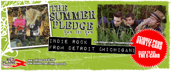 THE SUMMER PLEDGE NEW CD PROMO E-CARD